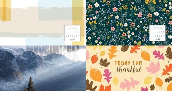 November 2018 Calendar Wallpapers