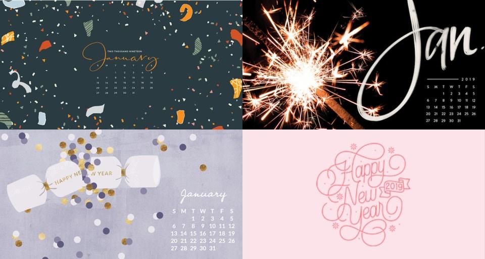 january 2019 calendar wallpapers