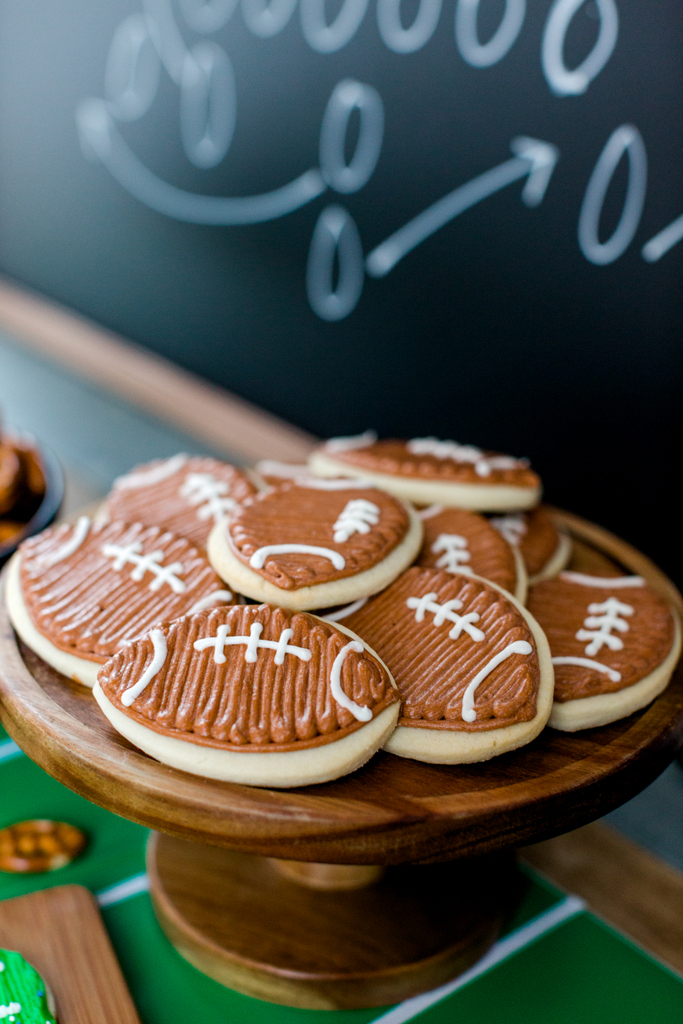buttercream icing football cookies