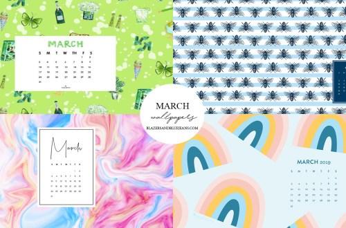 march calendar wallpapers 2019