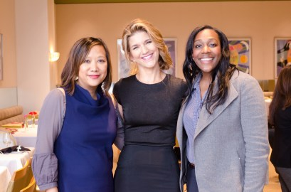Maria Kim (CEO of The Cara Program), Renata Merino Bregstone (CEO of Blazin' Babes) and Kristen Robinson (former student, The Cara Program)