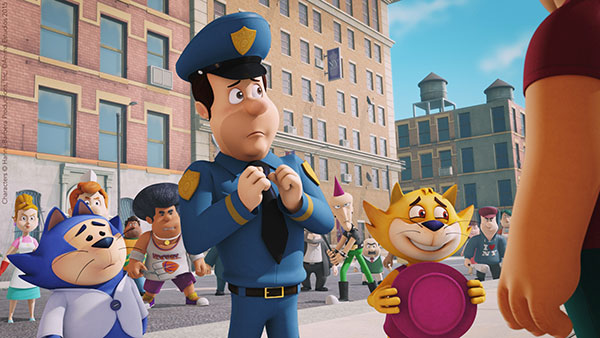 Benny, Officer Dibble and Top Cat (Top Cat Begins)