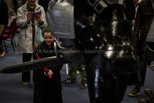 A small Kylo Ren takes on a giant at SciFi Wales 2016