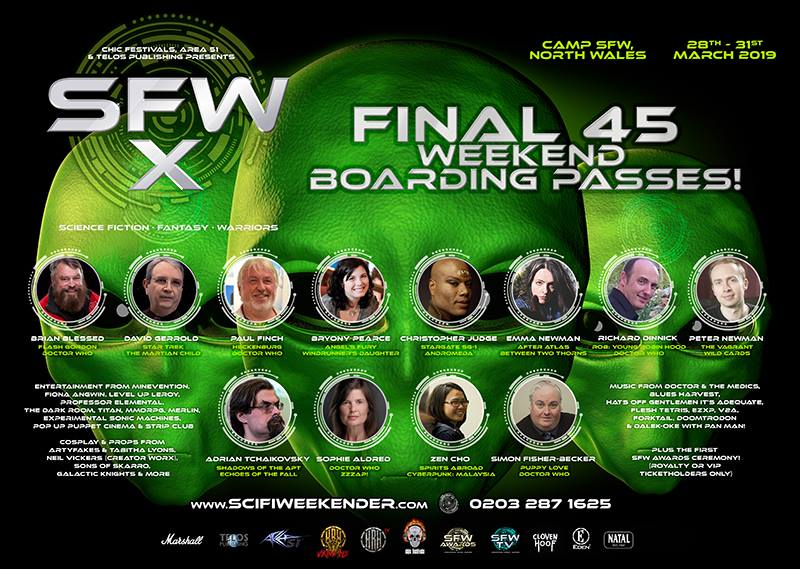 Simon Fisher- Becker, Sophie Aldred and and More Guest Announcements for SFW X