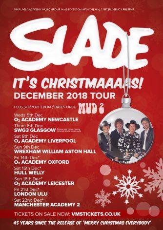 Slade Christmas Tour 2018