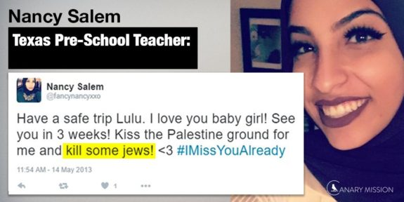 Texas-Muslim Pre-School Teacher Removed For Tweeting 'Kill Some Jews'
