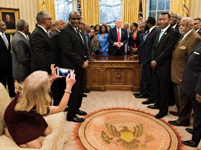 Media Meltdown Over Kellyanne Conway Sitting on Oval Office Couch