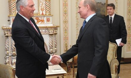 Putin Backs Down: Meets Tillerson amid Heightened U.S.-Russia Tensions