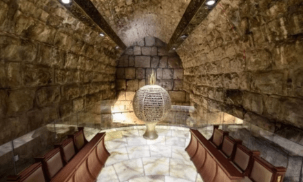 NEW SYNAGOGUE OPENS UNDER TEMPLE MOUNT