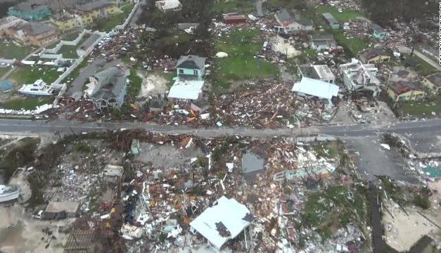 First aerial footage shows unprecedented destruction in Bahamas