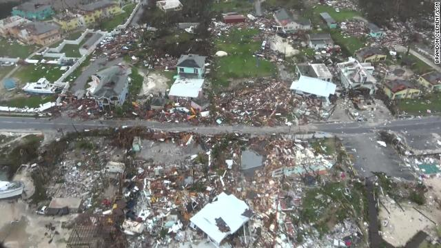 First aerial footage shows unprecedented destruction in Bahamas