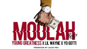 "Young Greatness Feat. Lil Wayne & Yo Gotti ""Moolah (Remix)"""