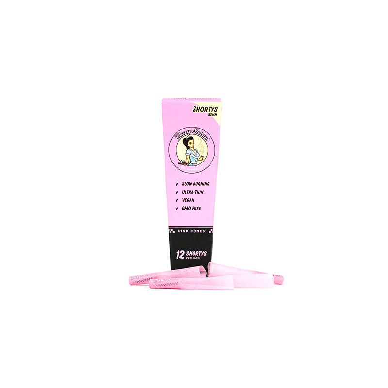 Shorty Pink Pre Rolled Cones - 12 Count