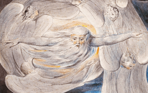 """God answers Job from the Whirlwind 1803-05 (Butlin 461)"", William Blake Archive [Public domain], via Wikimedia Commons"