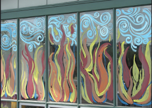 """Creative Commons Window painting for Pentecost Sunday 2008"" by Robin is licensed under CC BY 2.0"