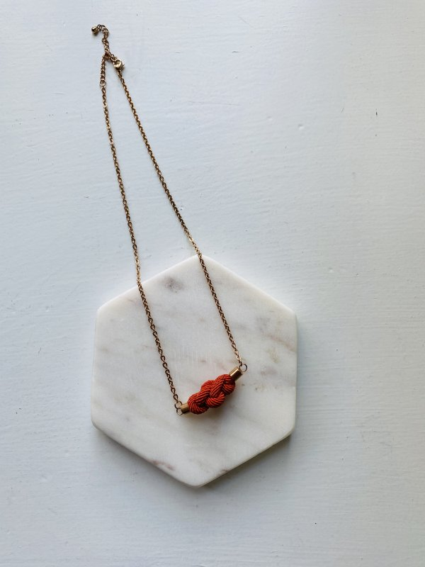 Eternity Necklace - Rust