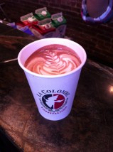 free hot chocolate from la columbe