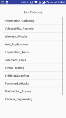 tools category list