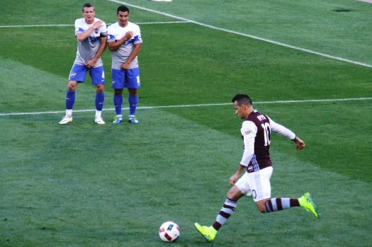 6/14/16 -Pappa free kick against Switchbacks F.C. in U.S. Open Cup action