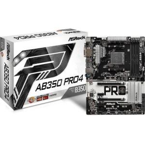 ASRock AB350 Pro4 Socket AM4 AMD B350 DDR4 ATX Motherboard (AB350 PRO4)