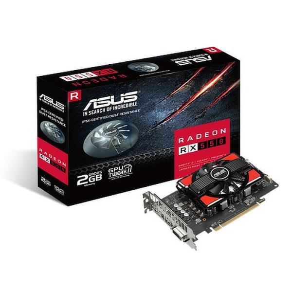 ASUS Radeon RX 550 2GB GDDR5 Graphics Card (90YV0AG1-M0NA00)