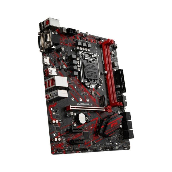 MSI B360M GAMING PLUS LGA 1151 Intel B360 DDR4 Micro ATX Motherboard (B360M GAMING PLUS)