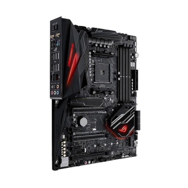 ASUS ROG CROSSHAIR VII HERO (WI-FI) Socket AM4 AMD X470 DDR4 ATX Motherboard (90MB0XF0-M0EAY0)