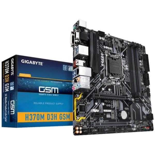 Gigabyte H370M D3H GSM LGA 1151 Intel H370 DDR4 Micro ATX Motherboard (H370M D3H GSM)