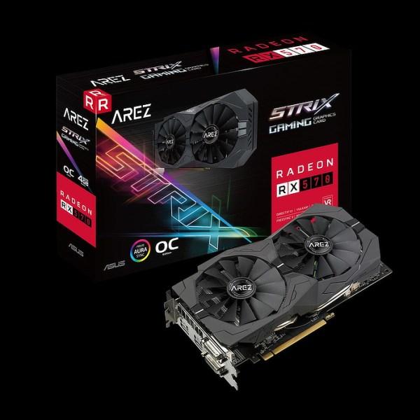 ASUS Radeon RX 570 Arez Strix Gaming OC 4GB GDDR5 Graphics Card (90YV0AJ2-M0NA00)