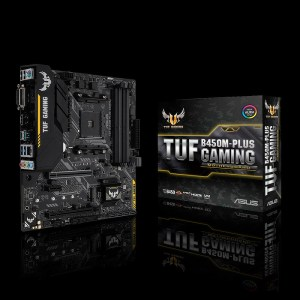 ASUS TUF B450M-PLUS GAMING Socket AM4 AMD B450 DDR4 Micro ATX Motherboard (90MB0YQ0-M0EAY0)
