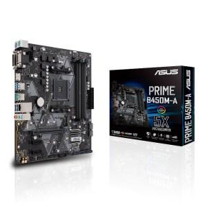ASUS PRIME B450M-A Socket AM4 AMD B450 DDR4 Micro ATX Motherboard (90MB0YR0-M0EAY0)