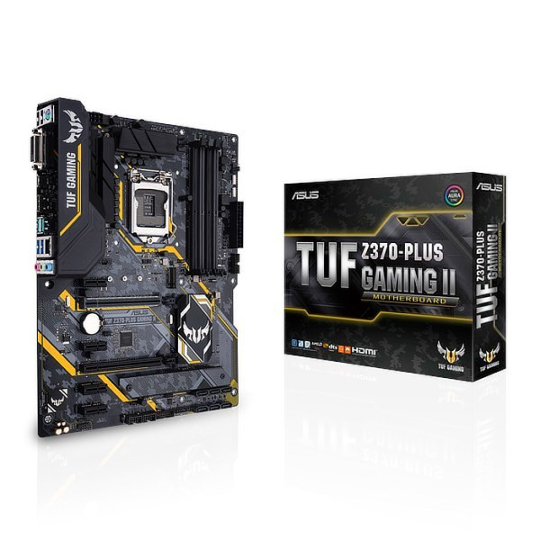 ASUS TUF Z370-PLUS GAMING II LGA 1151 Intel Z370 DDR4 ATX Motherboard (90MB1000-M0EAY0)