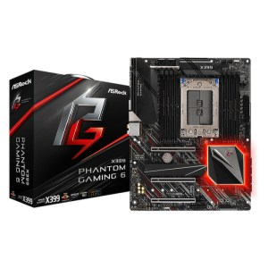 ASRock X399 Phantom Gaming 6 Socket TR4 AMD X399 DDR4 ATX Motherboard (90-MXB9B0-A0UAYZ)