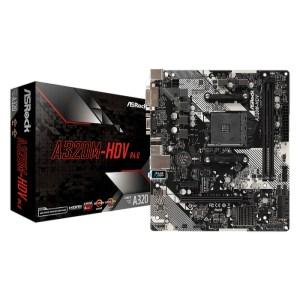 ASRock A320M-HDV R4.0 Socket AM4 AMD Promontory A320 DDR4 Micro ATX Motherboard (A320M-HDV R4.0)