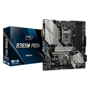 ASRock B365M Pro4 LGA 1151 Intel B365 DDR4 Micro ATX Motherboard (B365M PRO4)
