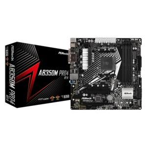 ASRock AB350M Pro4 R2.0 Socket AM4 AMD B350 DDR4 Micro ATX Motherboard (90-MXB9G0-A0UAYZ)