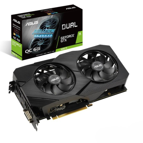 ASUS GeForce GTX 1660 Ti DUAL OC EVO 6 GB GDDR6 Graphics Card (90YV0CR2-M0NA00)
