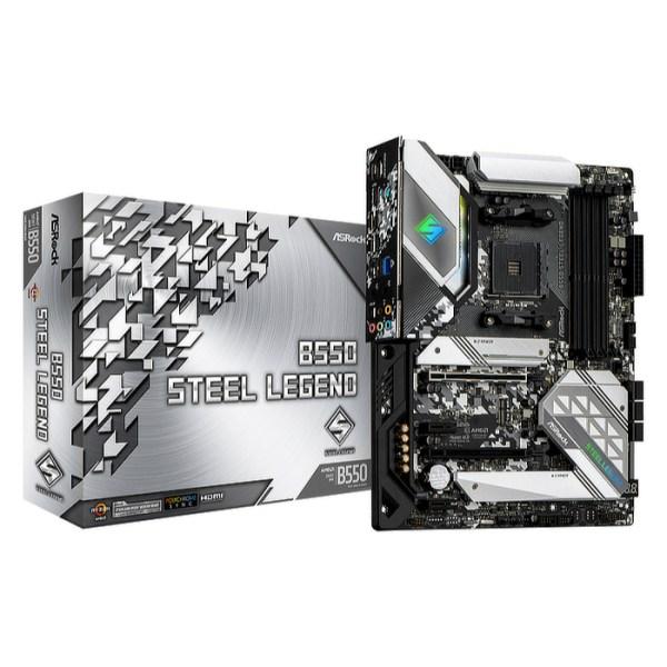 ASRock B550 Steel Legend Socket AM4 AMD B550 DDR4 ATX Motherboard (B550 STEEL LEGEND)