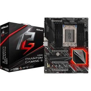ASRock X399 Phantom Gaming 6 Socket TR4 AMD X399 DDR4 ATX Motherboard (X399PHANTOM GAMING 6)