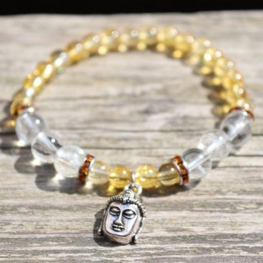 Citrin Bergkristall Armband