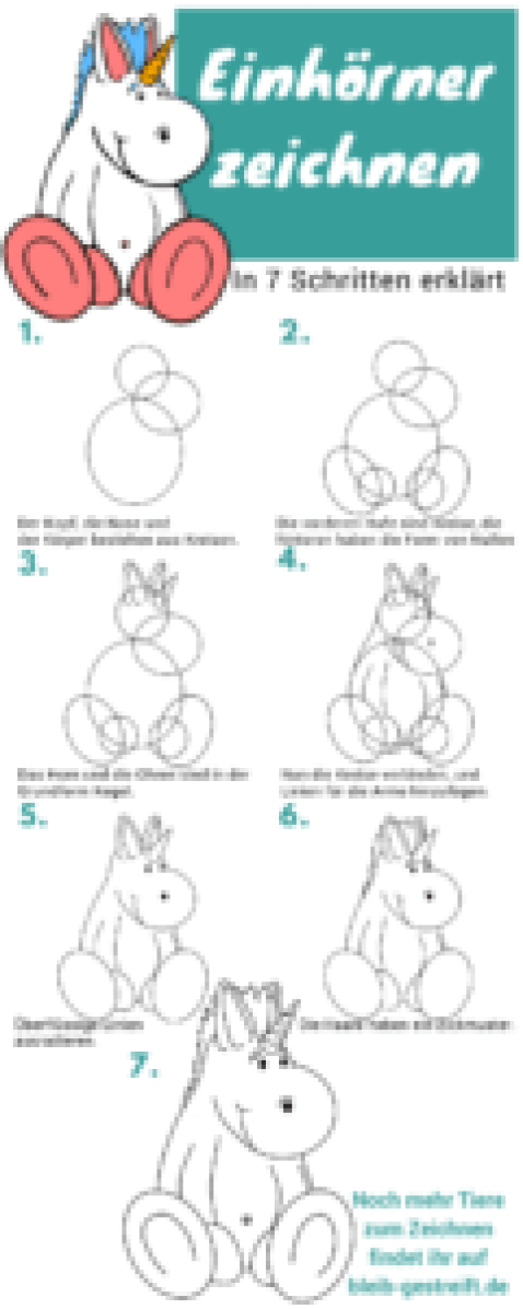 Lerne Dein Eigenes Einhorn Zu Zeichnen In 7 Schritten Erklärt