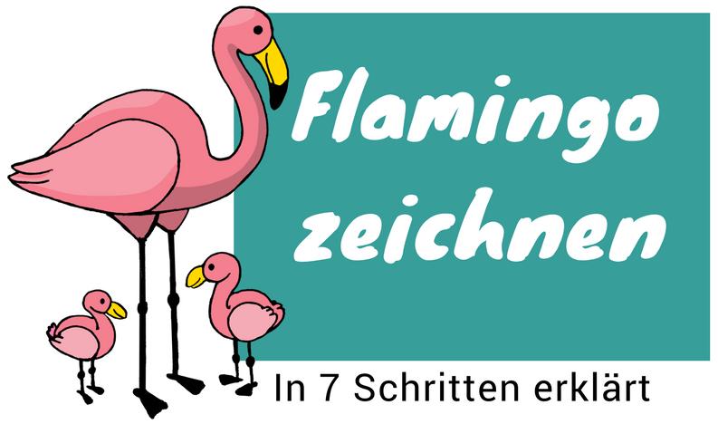Flamingo zeichnen lernen