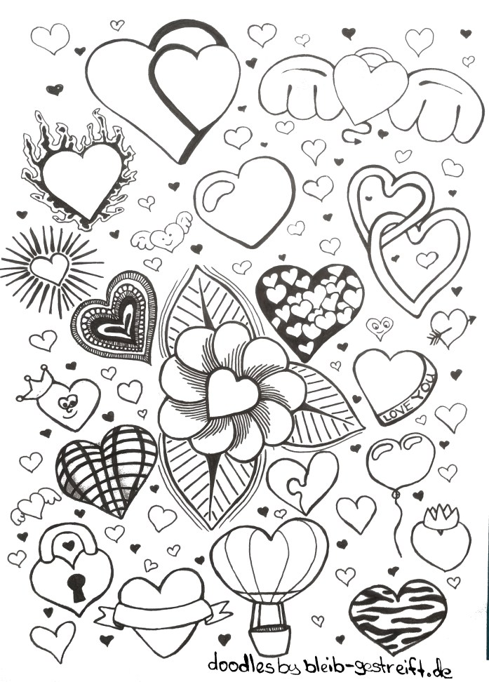 Doodles Herz. Doodles heart