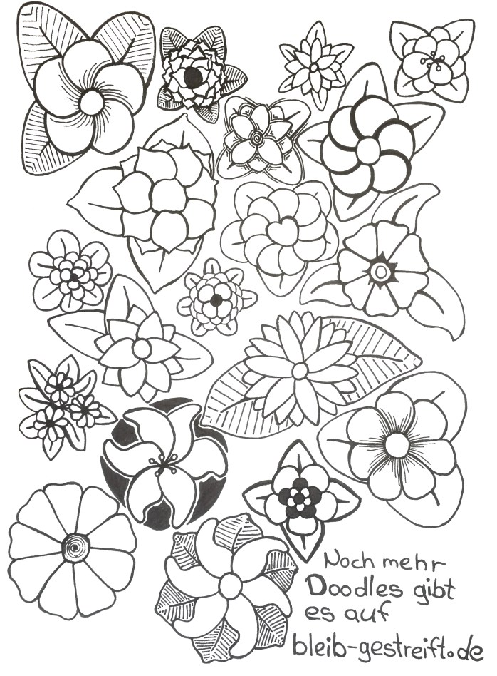 Doodles Blumen. Doodles flowers