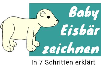 Eisbär Baby zeichnen