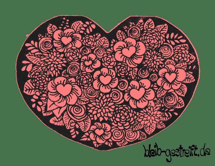 Herz: Blumenstrauß