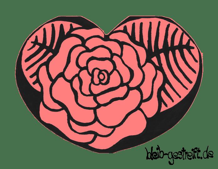 Herz: Blume