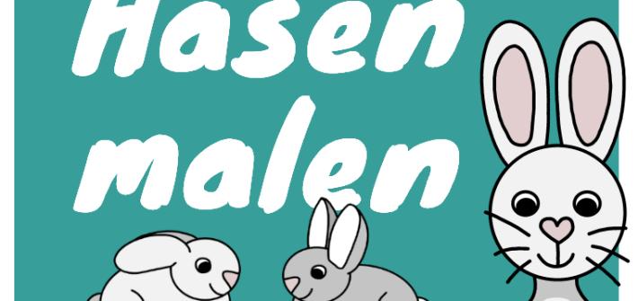 Hase zeichnen lernen für Kinder