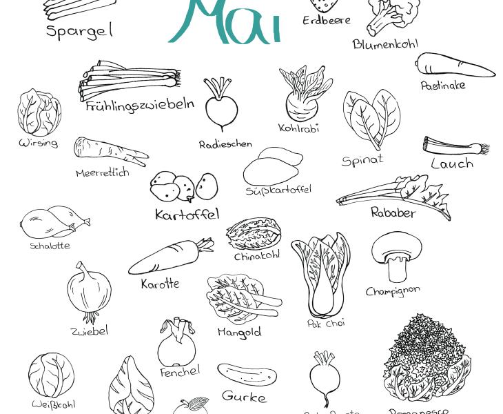 Doodle Saisonkalender Mai