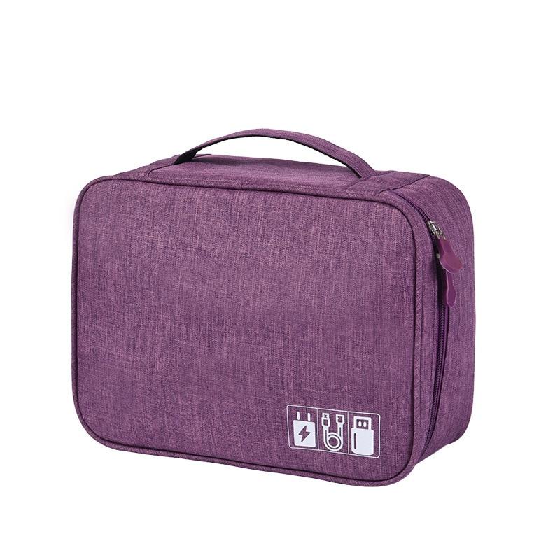 Waterproof Tech Travel Organizer Bag Purple